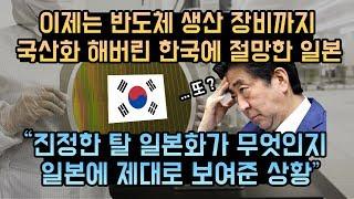 반도체 장비를 또 국산화 해버린 한국 일본의 고민과 답 없는 수출규제