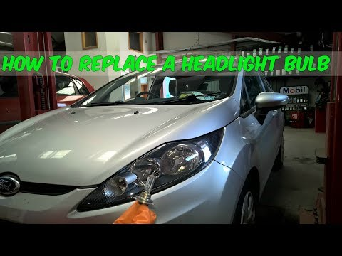 How To Replace A Headlight Bulb In A Ford Fiesta