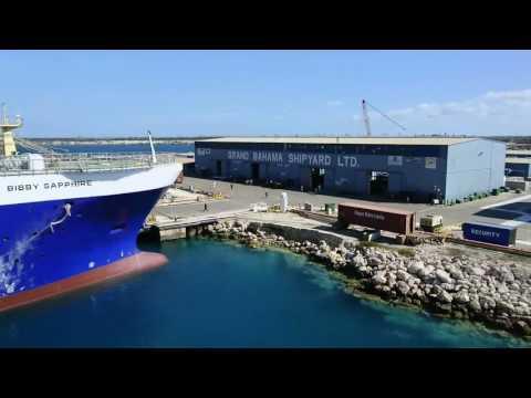 Carnival Sensation in drydock at Grand Bahama Shipyard