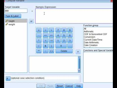 SPSS - Compute Variable (BMI Example)