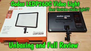 Godox LEDP260C Ultra Slim LED Video Light Unboxing and Full Review