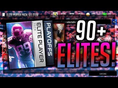 SO MANY ELITES! HUGE Madden Mobile Variety Pack Opening - Crazy Playoff Pack Pulls!