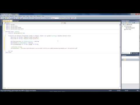 Visual studio 2010 - vb.net Lesson #5 - Insert data into SQL Server Database