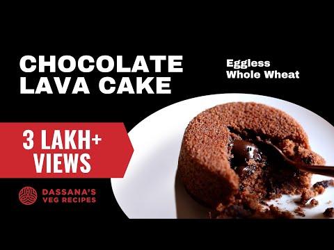 eggless choco lava cake recipe - easy choco lava cake recipe, molten lava cake recipe