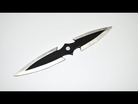 How to make a paper toy double knife. Paper weapons