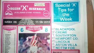 Week 30, 2019 Right-On Fixtures Free Pool Banker Draw