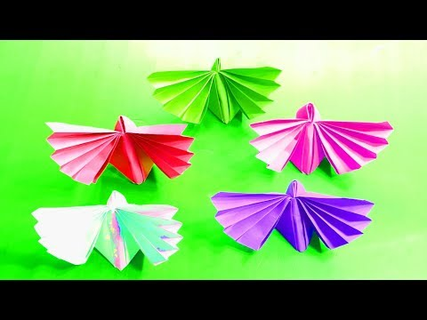 Paper Butterfly: how to make paper butterfly - Origami Paper Butterflies Folding tutorial