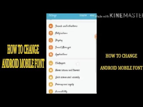 How to change Font Style Samsung Android Mobile Or Other Smartphone please see Description For More