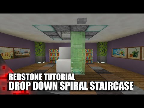 Minecraft: Drop Down Spiral Staircase!