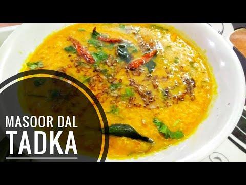 Masoor Dal Tadka | Quick and Easy | In Hindi 2017