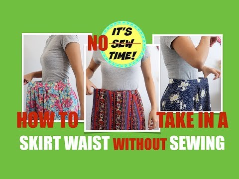 HOWTO TAKE IN A SKIRT WAIST WITHOUT SEWING | SKIRT HACK EVERY GIRL SHOULD KNOW!