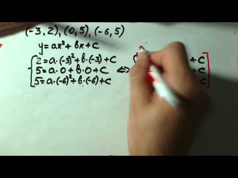 quadratic function from 3 points.wmv