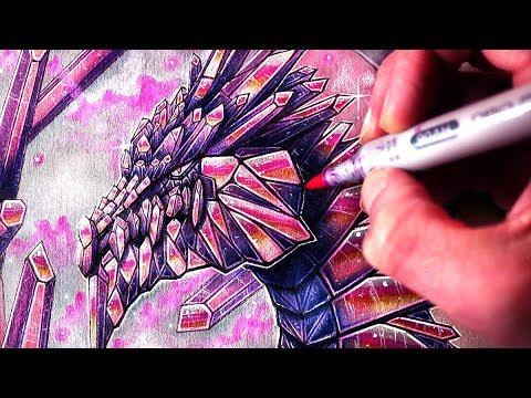 Let's Draw a CRYSTAL DRAGON - FANTASY ART FRIDAY