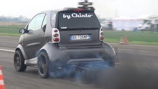 CRAZY Smart Car Swap VW 1.9 TDI Turbo Diesel Smoking On The Dragstrip!