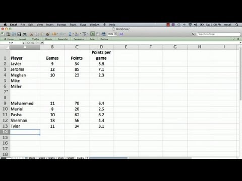 How to Shift Everything Down in Excel : Using Microsoft Excel