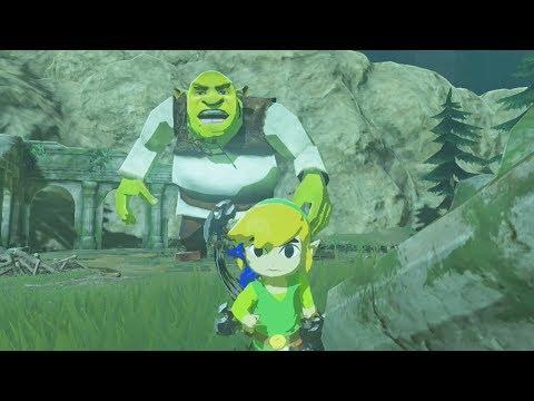 Toon Link Vs Shrek in Zelda Breath of the Wild