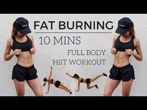 10 min Full Body HIIT Workout - FAT BURNING No Equipment | 10分鐘超燃脂全身間歇訓練 - 無需器材訓練