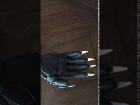 Functional Black Panther Gloves