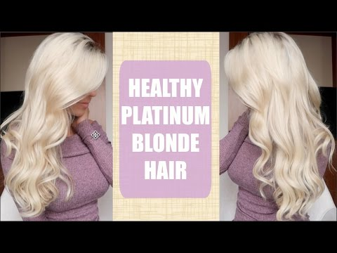 Platinum Blonde Hair | How to keep it HEALTHY