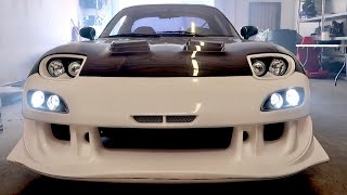 Adding Bumper Lights to my RX-7 [Car Shop GLOW]