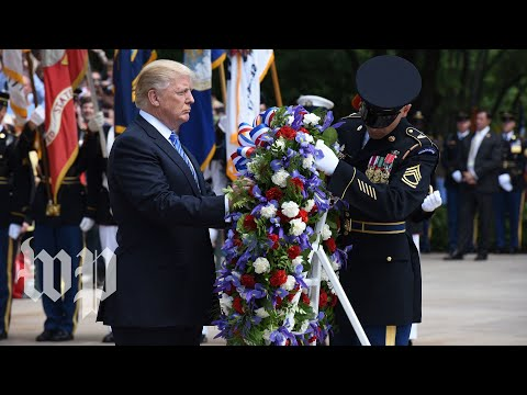 Trump lays wreath at the Tomb of the Unknowns