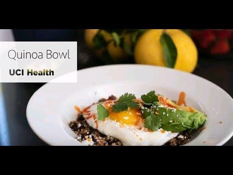 Quinoa, black bean, egg and avocado bowls