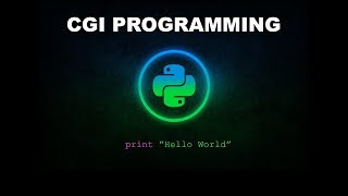 Basic CGI Programming - Python Programming