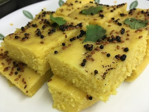 How to make Gits Khaman Dhokla without a pressure cooker! Quick healthy Indian snack food