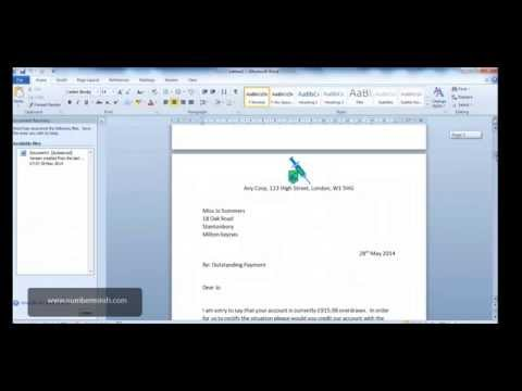 Microsoft Word 2010 - How to do a Mail Merge and format fields