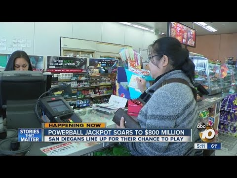 Powerball fever: San Diegans brave long lines to buy tickets