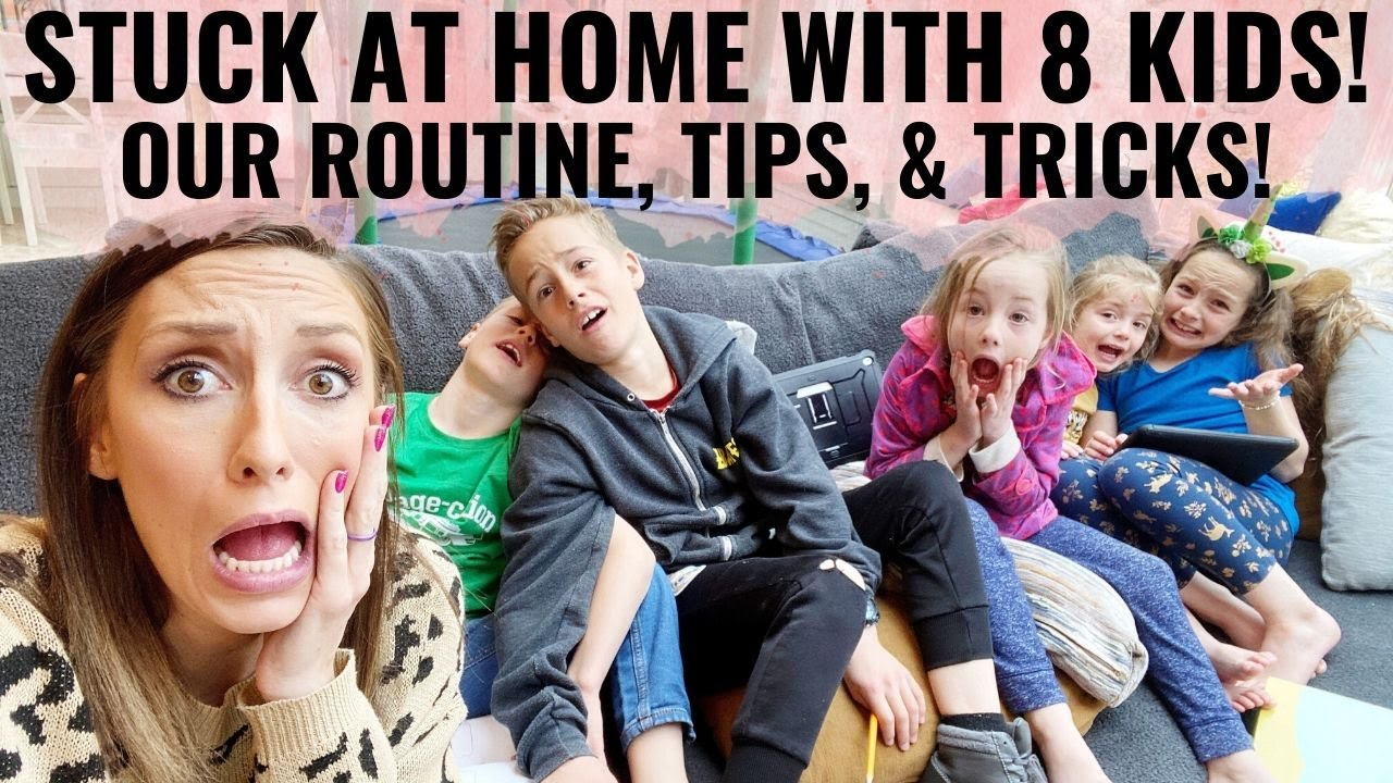 DITL - Stuck at home with 8 kids! Our ACTUAL schedule, tips, tricks & more!