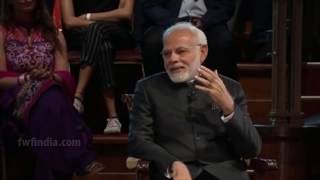 "PM Modi's Q&A Session In London With Prasoon Joshi Full Interview ""Bharat Ki Baat Sabke Saath"""