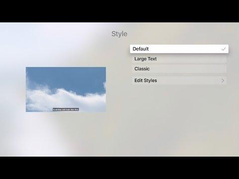 Apple TV Tips - Customizing Subtitles