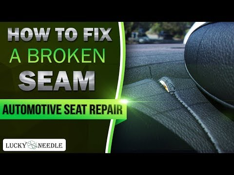 How to fix a broken seam by hand or with a sewing machine - Automotive Seat Repair
