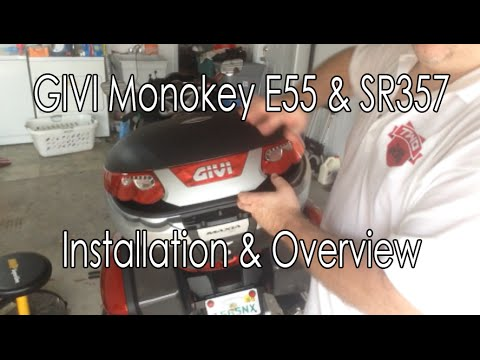 GIVI E55 SR357 Topcase And Mount Installation How To