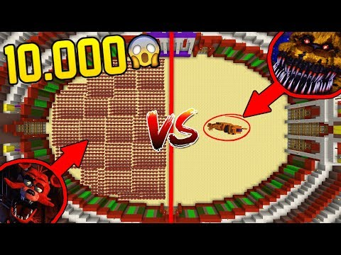 10,000 FOXY VS NIGHTMARE FREDDY! • MINECRAFT MOB BATTLE!