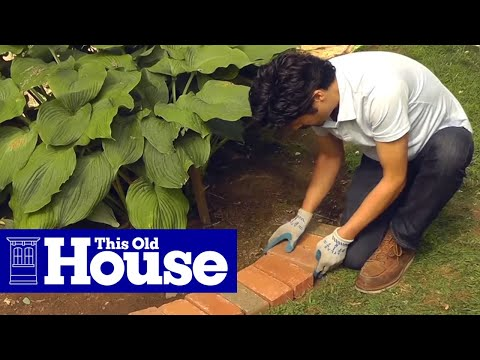 How to Edge a Garden Bed With Brick - This Old House