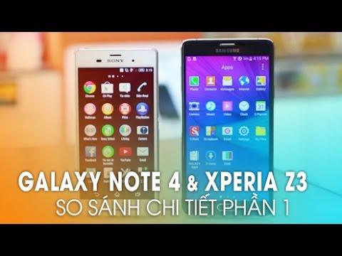 Galaxy Note 4 và Sony Xperia Z3: Thiết kế nào đẹp hơn? (Phần 1)
