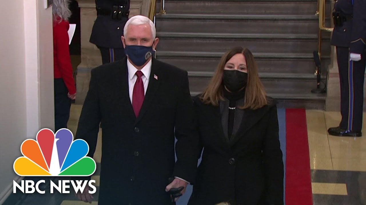 Pence Arrives For Biden's Inauguration As Trump Lands In Florida | NBC News