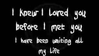 Savage Garden - I Knew I Loved You (Lyrics)