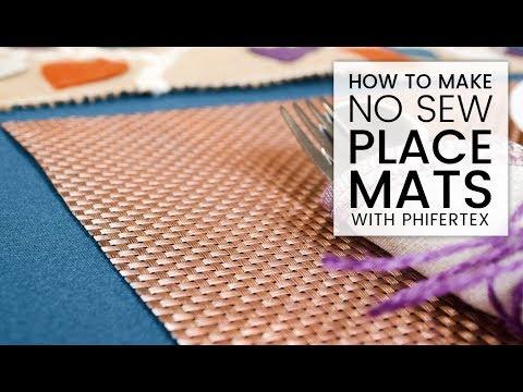 How to Make No Sew Phifertex Placemats