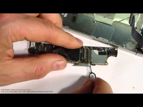 How to works sim card out metal mechanism Apple iPhone 4S