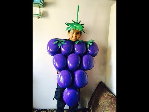 How to make grapes fancy dress / Grapes fancy dress / Grapes / Fancy dress / Fancy dress for kids
