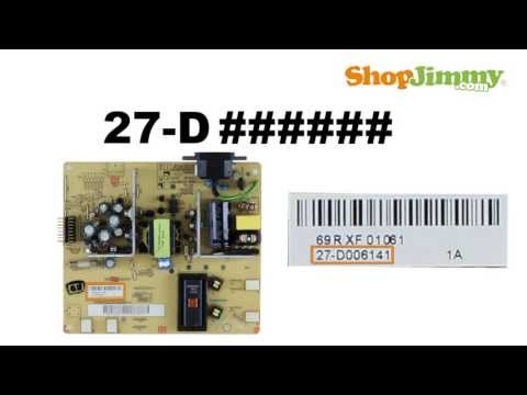 How to Identify Westinghouse TV Power Supply Part Number - No Power Issue - Identify Board