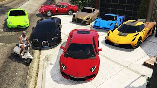 GTA 5 - Stealing Expensive Luxury Cars with Franklin! | (GTA V Real Life Cars #89)