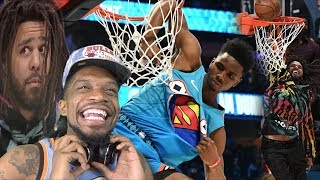 J COLE GETS BOUNCY!! 2019 NBA DUNK CONTEST HIGHLIGHTS!