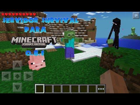 Servidor Survival - Minecraft Pocket Edition 0.8.1