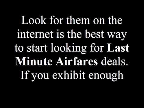 The Advantages of Last Minute Airfare.avi