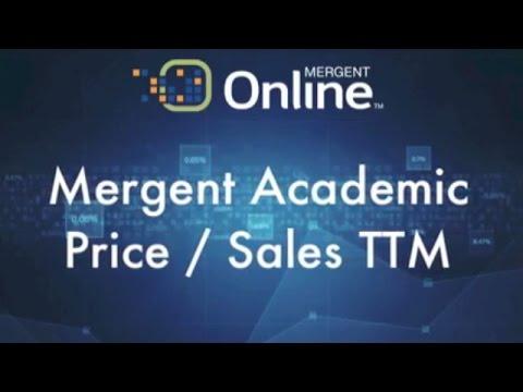 Valuation Measures - Price / Sales TTM