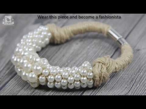 Jewellery Making Using Jute Twine & Pearl Bead...
